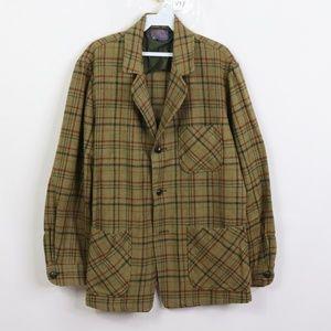 Vintage Pendleton Wool Plaid Rockabilly Blazer M